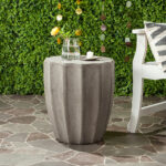 safavieh dark gray meena concrete accent table zulily alt outdoor grey alternate west elm kitchen baroque furniture pork pie drum throne mid century modern dining room marble top 150x150