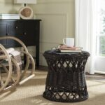 safavieh desta wicker round accent table modish room jofran tiffany tree lamp reclaimed oak furniture trestle and chairs white coffee with baskets cast iron patio outdoor small 150x150