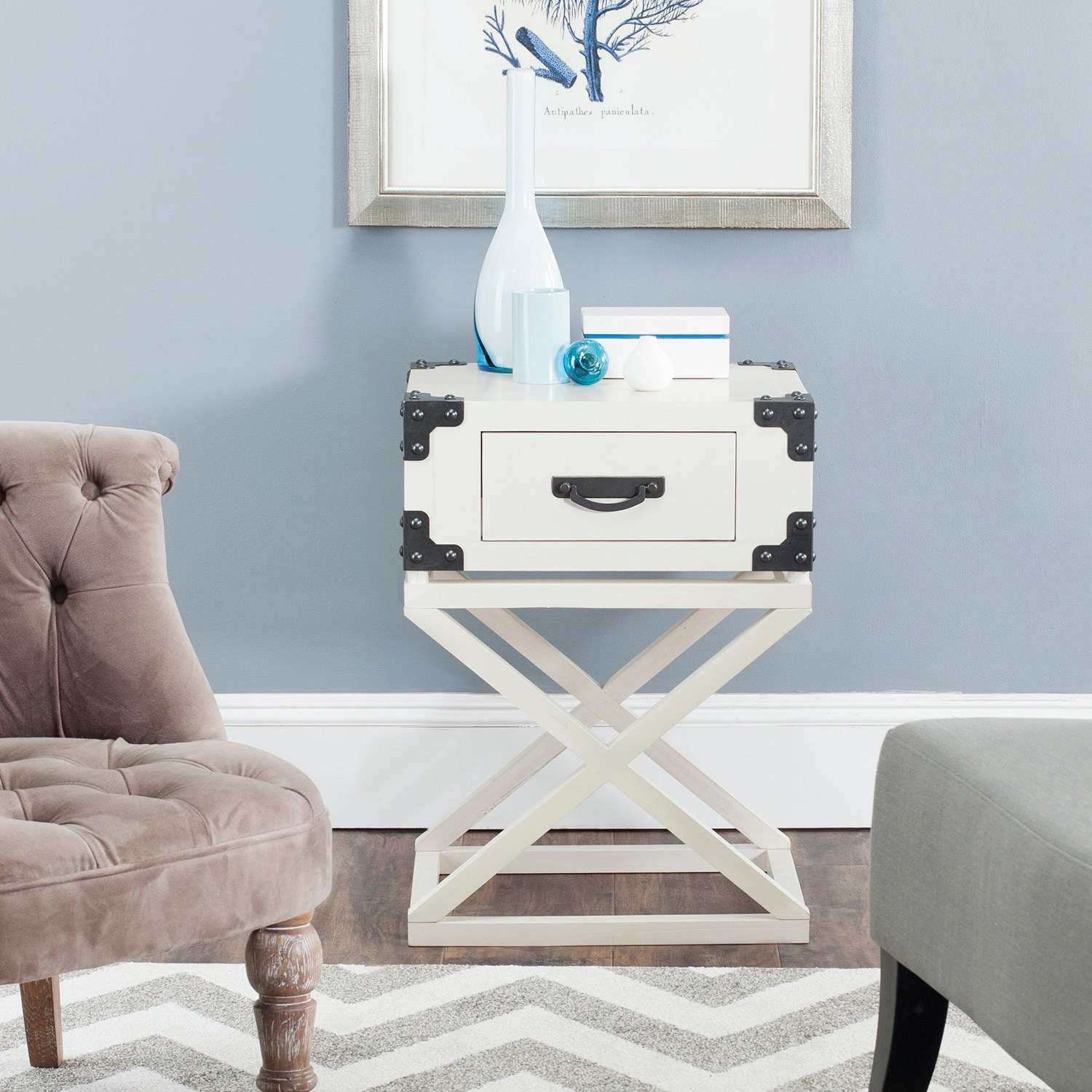 safavieh dunstan white accent table free shipping today tables living room target blue chair mosaic burgundy runner chinese style floor lamps tiffany lily lamp small glass storage