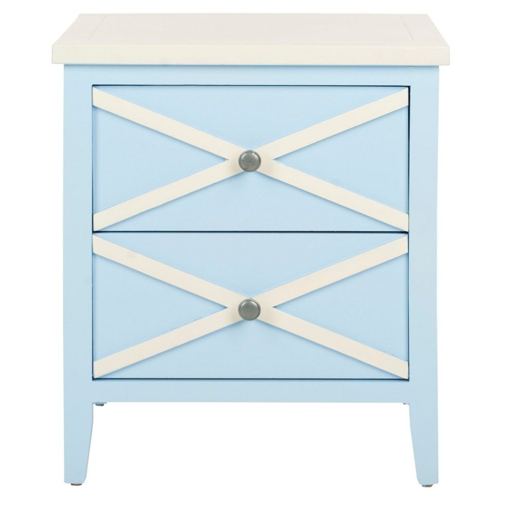 safavieh end table light blue white products accent acrylic chairs flesner brushed steel lamp with usb port clothes organiser target patio furniture clearance groups winsome wood