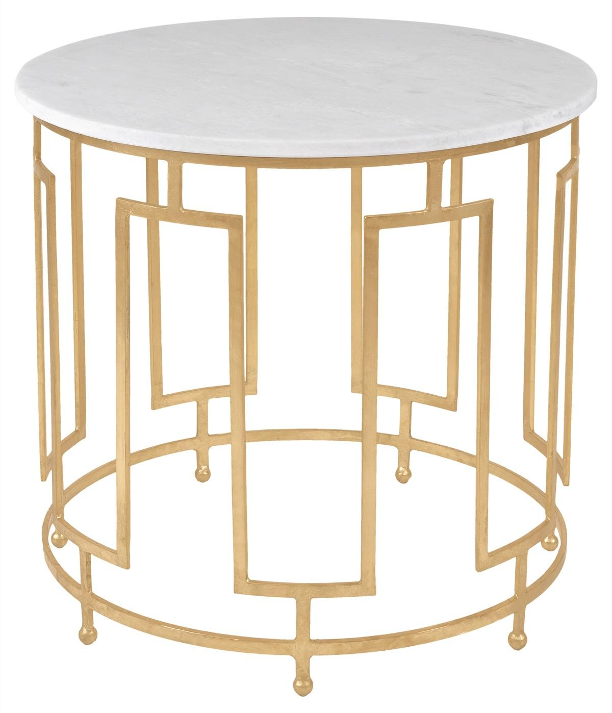 safavieh front gold accent table with marble top inch deep console cabinet kids drum throne shaped end cherry wood dining set hampton bay posada round faux coffee wicker patio and