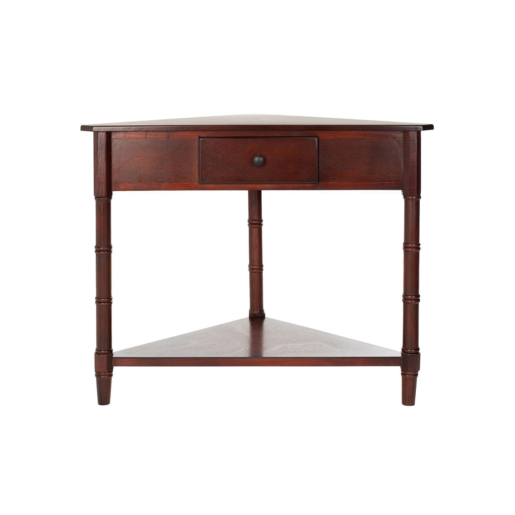 safavieh gomez corner accent table products with storage brown folding dining for small space side ideas living room coastal decor lamps coffee top homesense foldable kmart