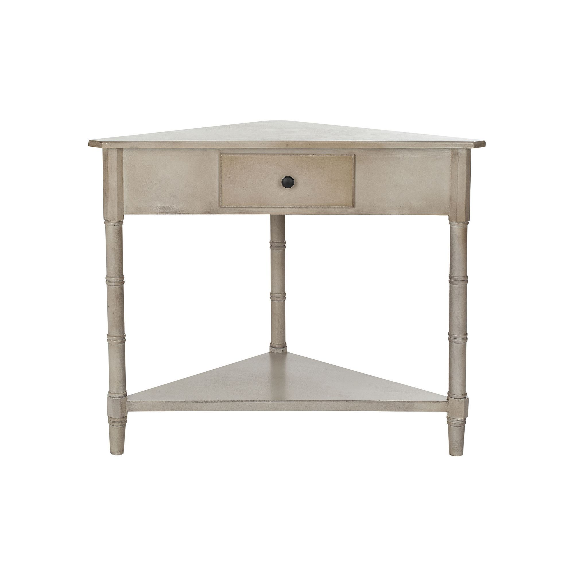 safavieh gomez corner accent table with drawer grey pottery barn frames home decor website concrete look dining ballard slipcovers circle nautical small outside and chairs green