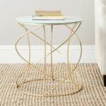 safavieh home collection cagney gold accent table white glass end kitchen dining kohls percent off large bedside lamps power cord types wooden crate side with baskets black 150x150