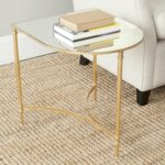 safavieh home collection nevin gold accent table console kitchen dining behind couch tablecloth square legs light floor lamp round patio cover trestle room curved umbrella west 150x150