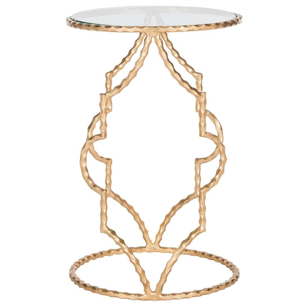 safavieh ira antique gold leaf end table the tables accent garden bar ideas oak side with drawer family room decorating circular cover outdoor wicker umbrella hole rowico