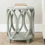 safavieh janika round accent table french gray matching nightstands wedding reception decorations with usb ports gold bookshelf side lamp shades outdoor bistro living room 150x150
