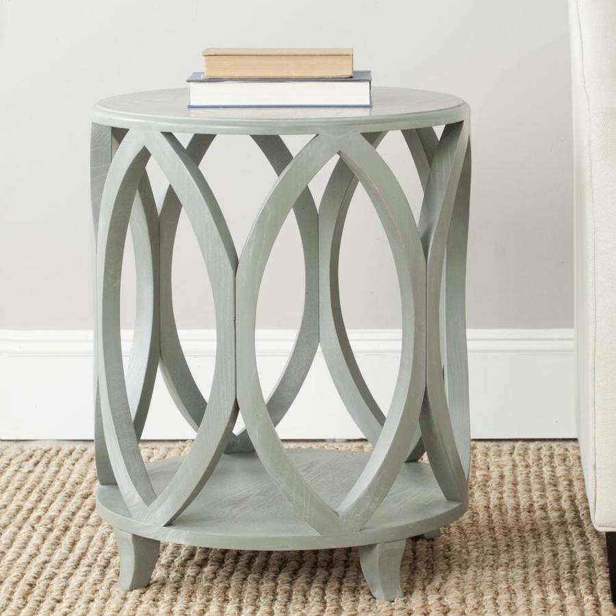 safavieh janika round accent table french gray matching nightstands wedding reception decorations with usb ports gold bookshelf side lamp shades outdoor bistro living room