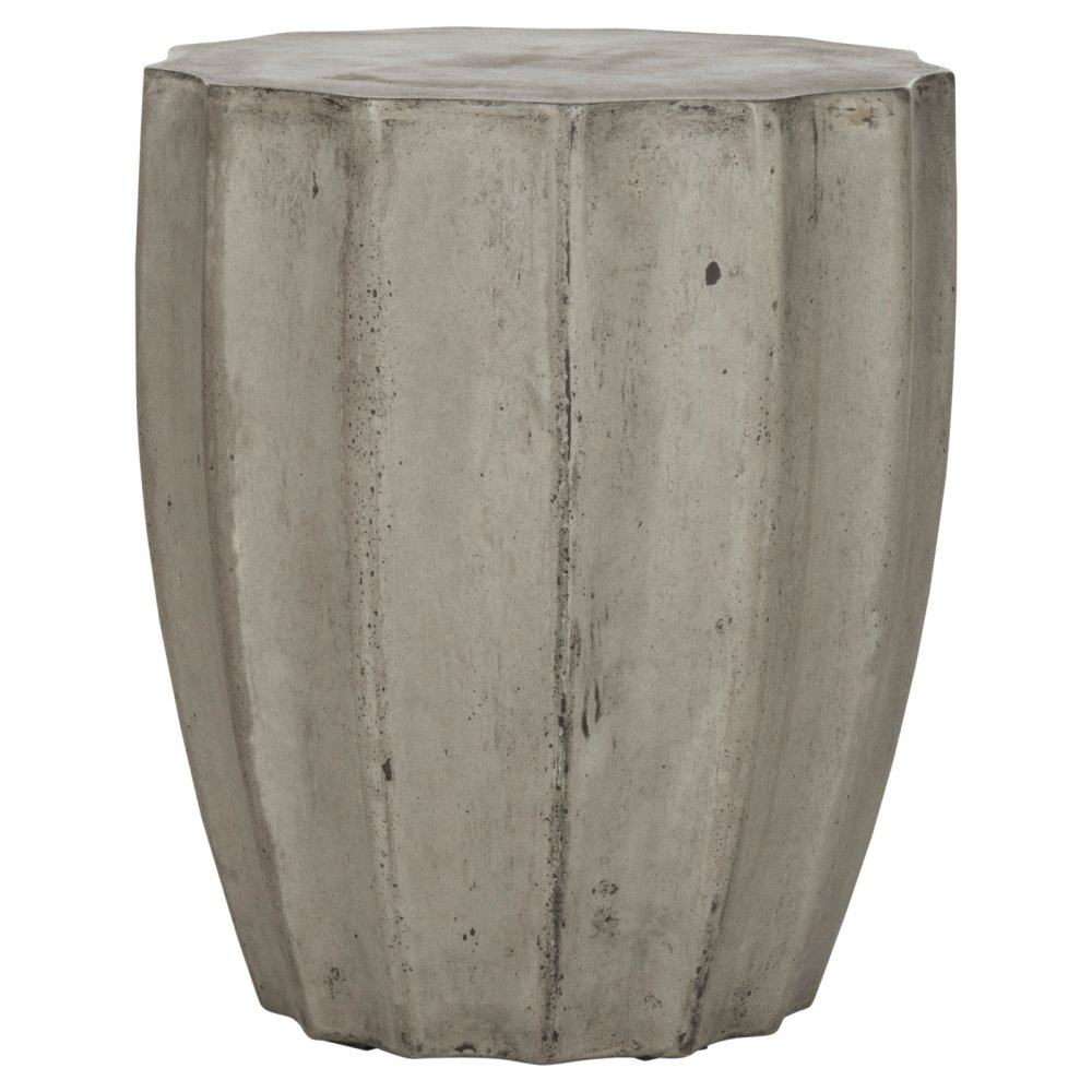 safavieh jaslyn concrete indoor outdoor side table dark gray options darkgray base accent storage cabinet with drawers piano lamp drum throne seat only half moon wood and glass