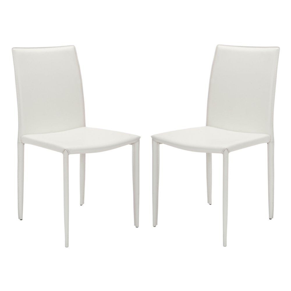 safavieh ken dining side chairs white leather set master janika accent table off wrought iron tables with glass tops concrete top patio small bedroom ideas ikea chrome coffee