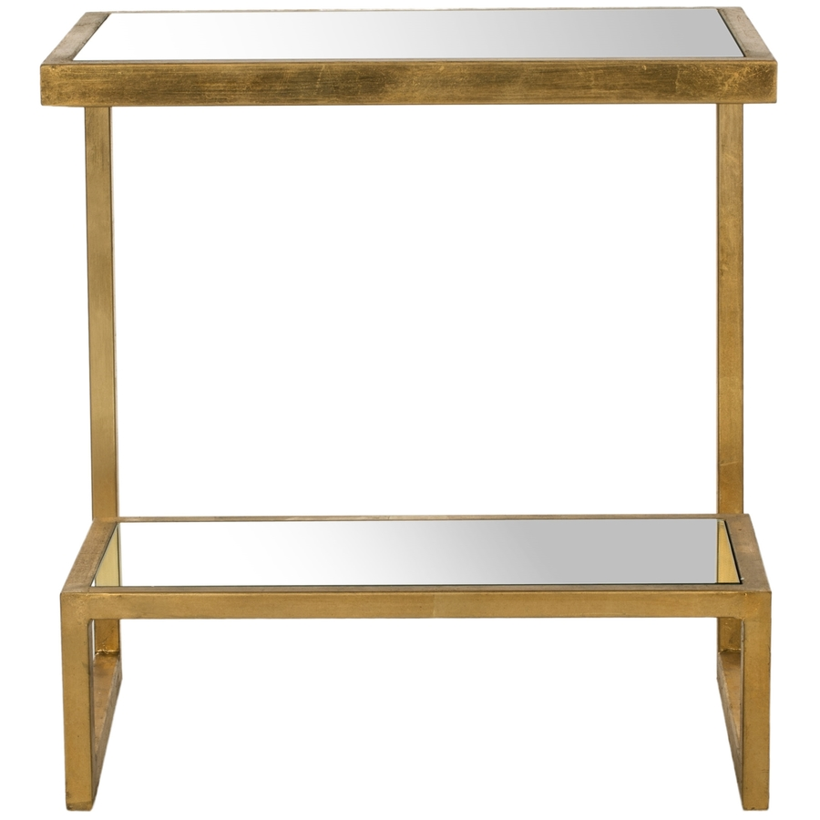 safavieh kennedy gold mirror top glass modern end table accent tables ikea bunnings patio furniture fur chrome side mirrored bedside lockers big lots plus tablet metal chairside