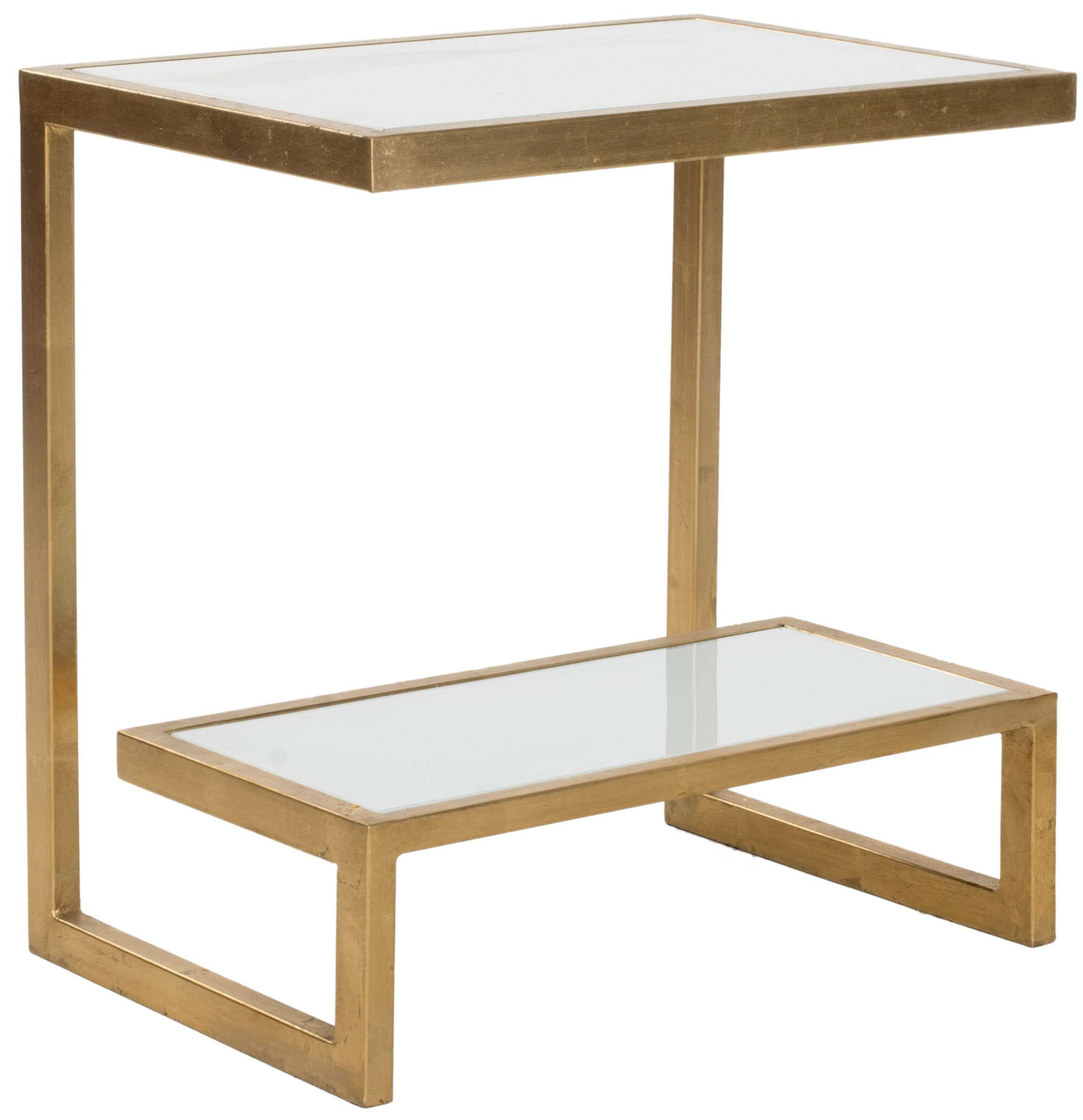 safavieh kennedy mirror top gold white accent table reviews mirrored glass with drawer art deco furniture coffee and end tables lawn garden lucite console wall clock side decor