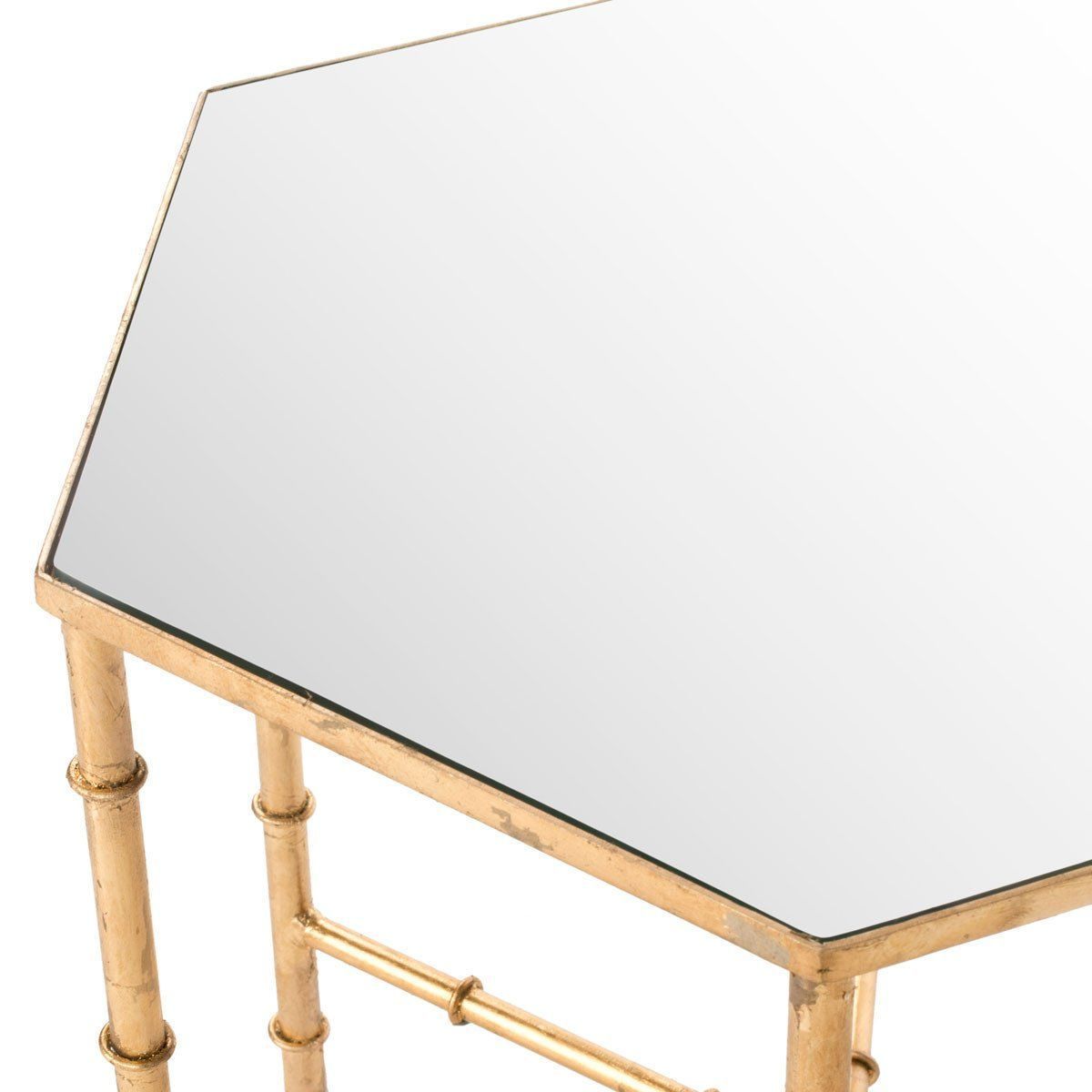 safavieh kerri accent table gold mirror top side tables goldmirror and target chalk paint narrow sofa kitchen dining room leather sectional edmonton west elm standing lamp box