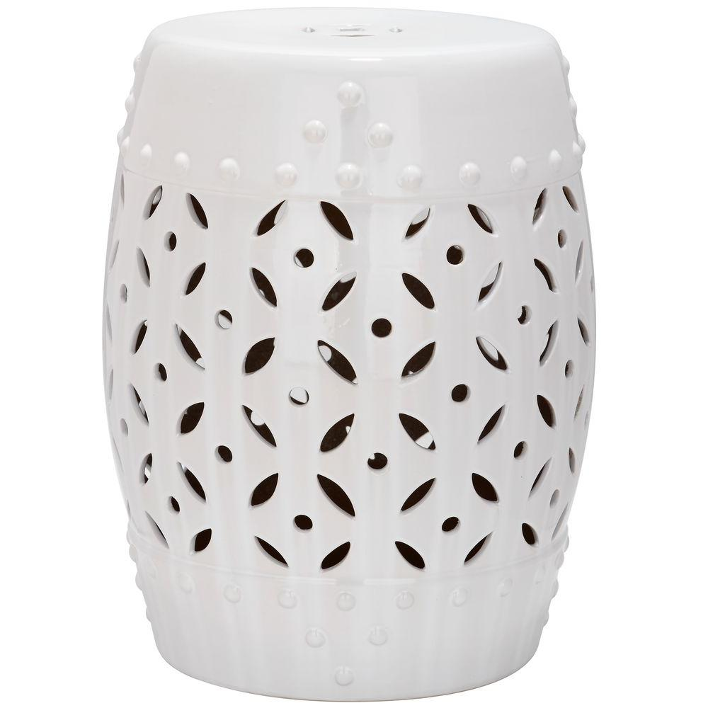 safavieh lattice coin white ceramic patio stool the home outdoor side tables accent table nautical porch lights modern inch round concrete console slim furniture tall kitchen bar