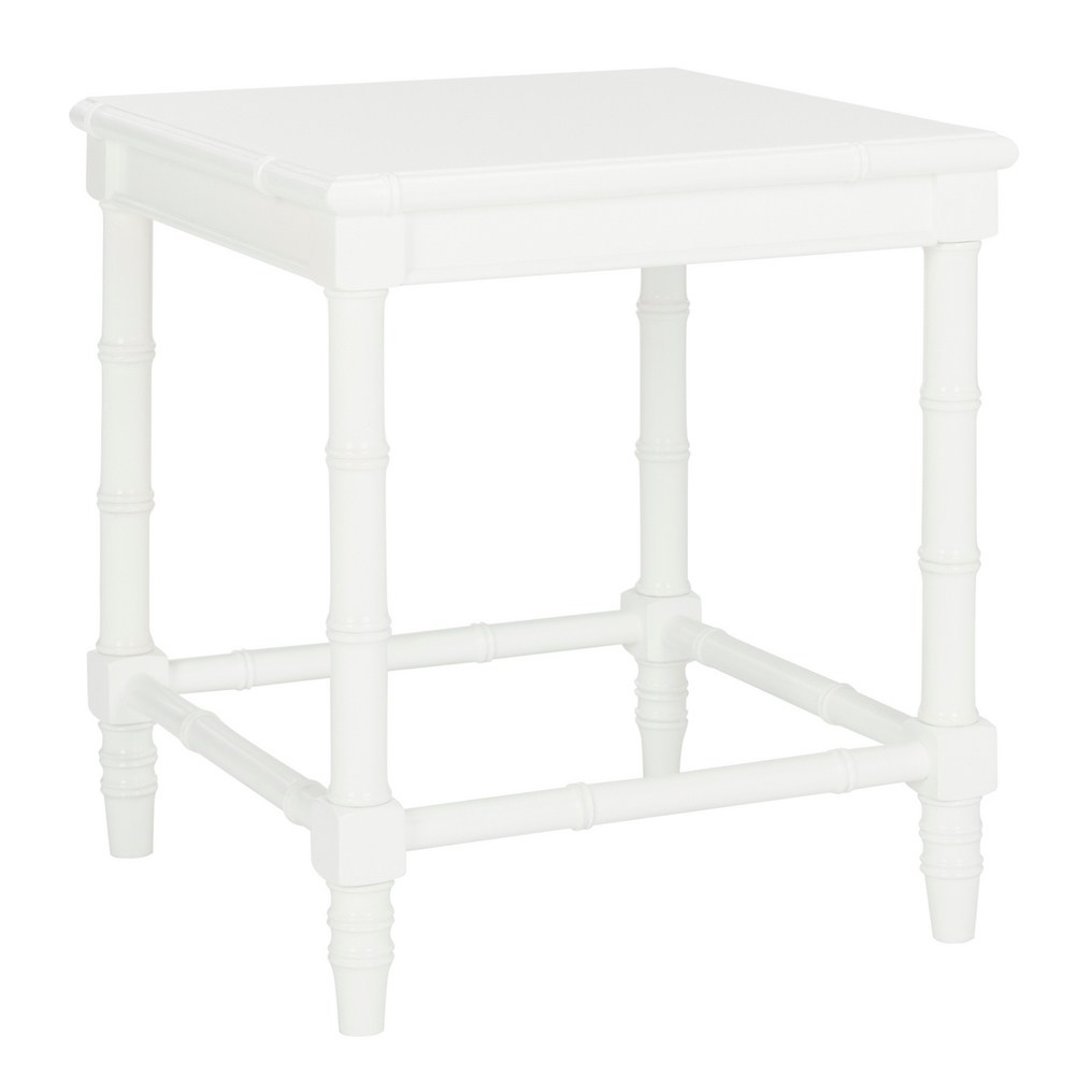 safavieh liviah white accent table free shipping today modern coastal bamboo janika off teak rocking chairs glass entrance knotty pine dining nic umbrellas concrete top patio