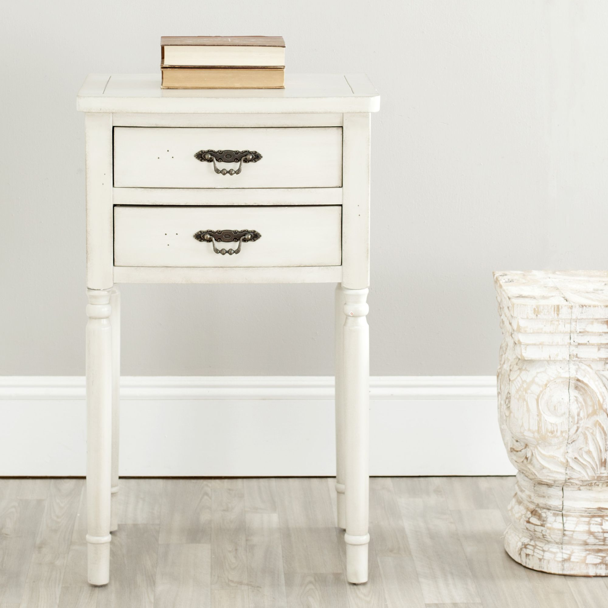 safavieh manchester light grey accent table white size threshold margate drawer wicker cocktail tall side with drawers contemporary trestle dining sofa matching end tables piece