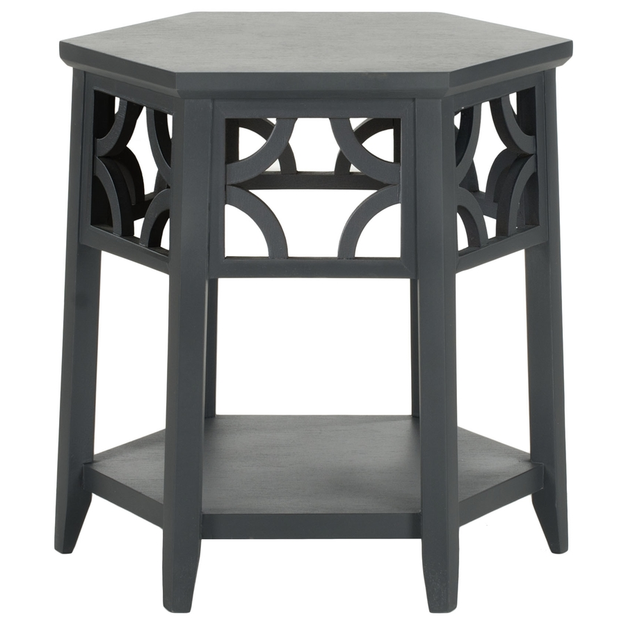 safavieh matthew charcoal gray wood asian end table square fretwork accent threshold dark hampton patio furniture living room sets small oak side tables for round drum laminate