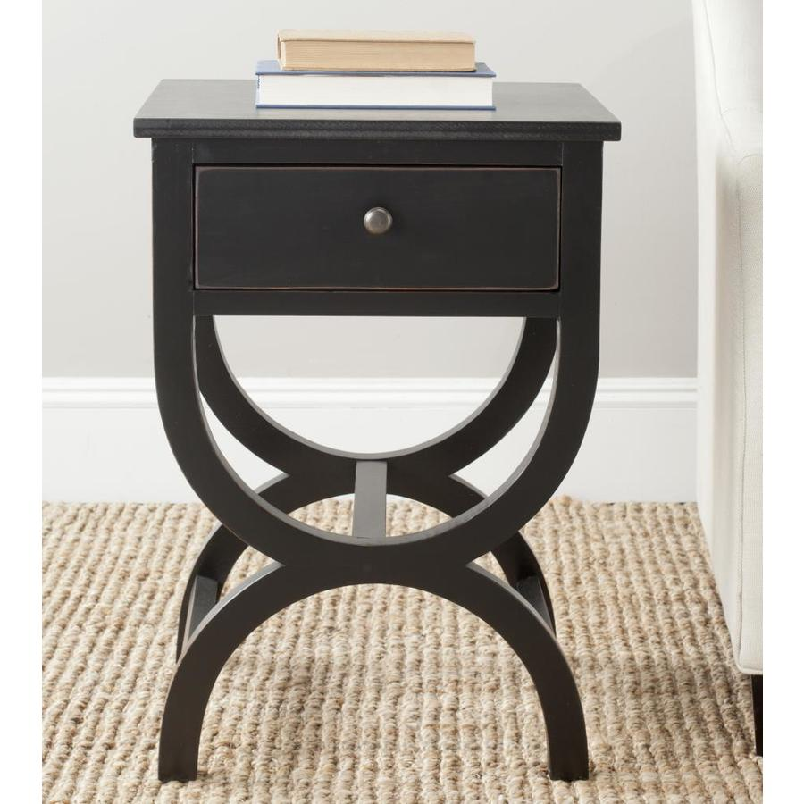 safavieh maxine accent table with storage drawer black mango coffee grey round farm door affordable chairs tall wood side outdoor glass modern lamp tables for living room inch