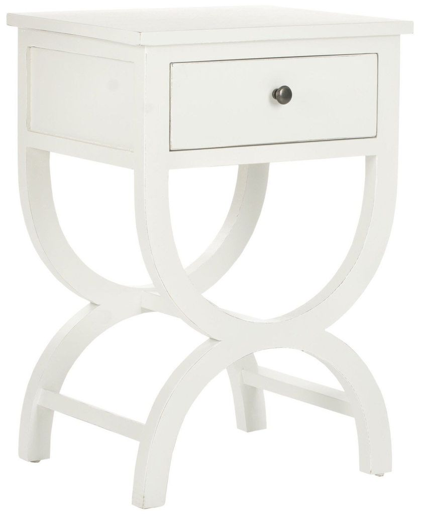 safavieh maxine accent table with storage drawer shady white side tables drawers dining cloth design patterned living room chairs marble desk hooper console hollywood mirrored