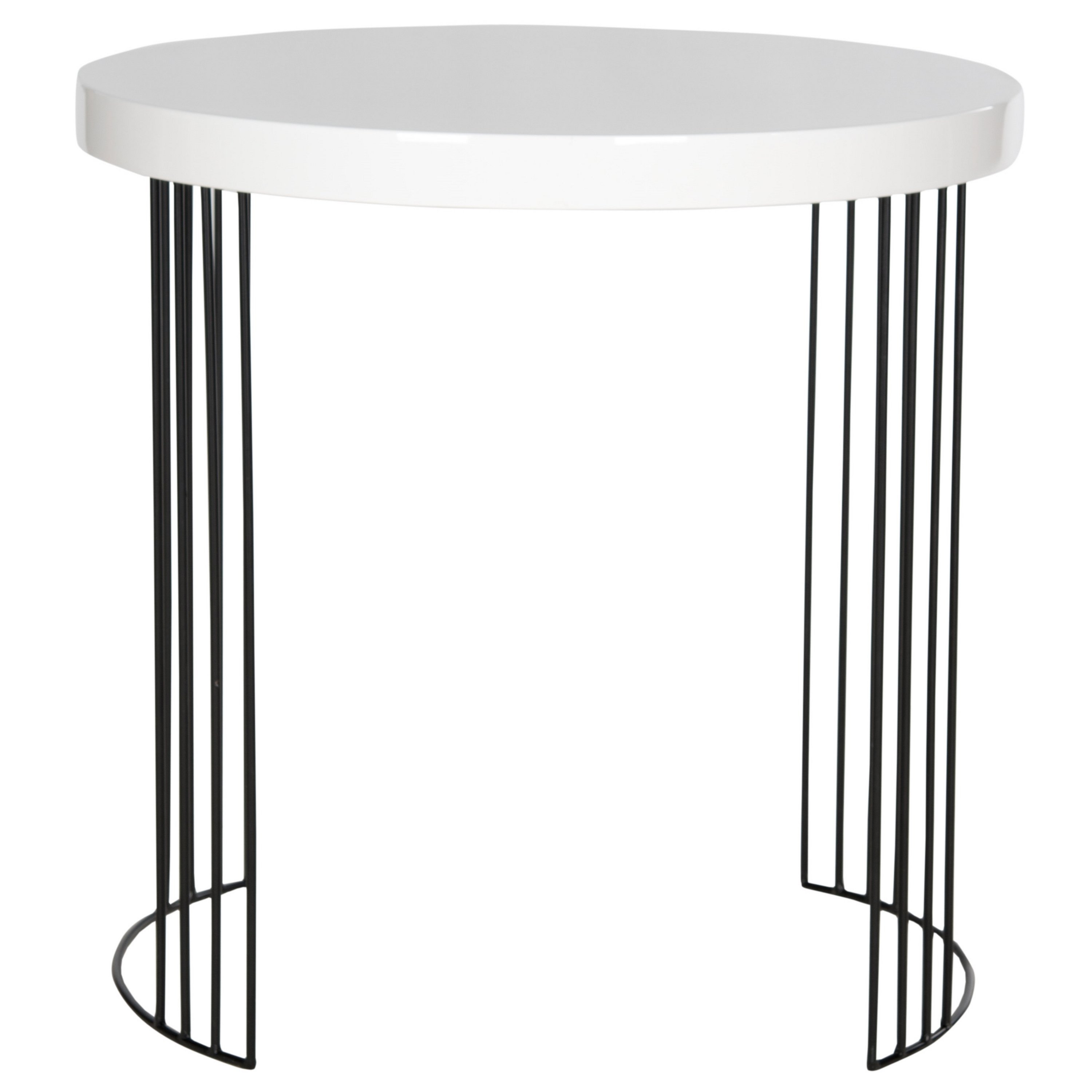 safavieh mid century modern kelly white lacquer side table accent free shipping today retro bedroom furniture wilcox unique round tablecloths globe lighting acrylic snack designer