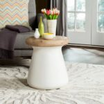 safavieh outdoor collection button modern concrete ivory round accent table inch colorful coffee tables black pedestal end pottery barn white small metal outside mid century 150x150