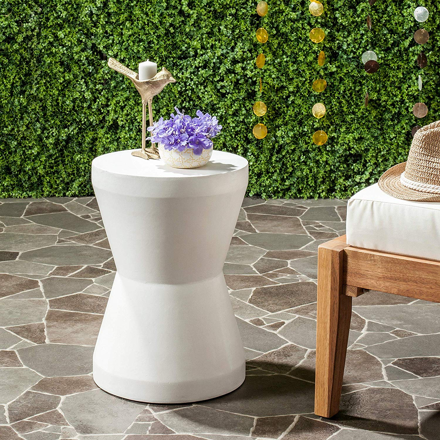 safavieh outdoor collection torre modern concrete ivory accent table inch garden colorful coffee tables small metal outside target waldo pork pie drum throne pier desk gothic