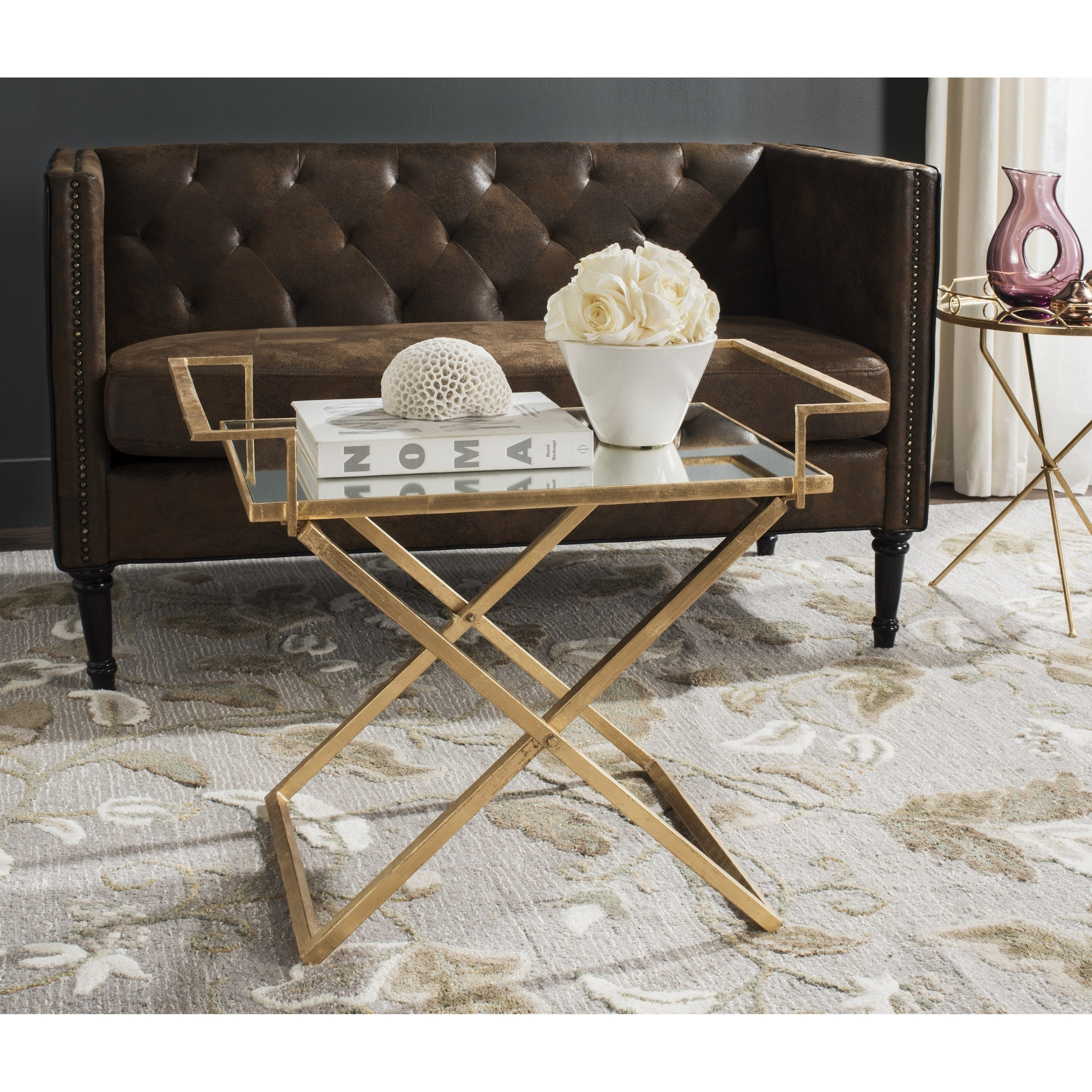 safavieh pierre antique gold leaf accent table free shipping today patio dining furniture round plastic tablecloths with elastic distressed entry ellipsis black glass side off