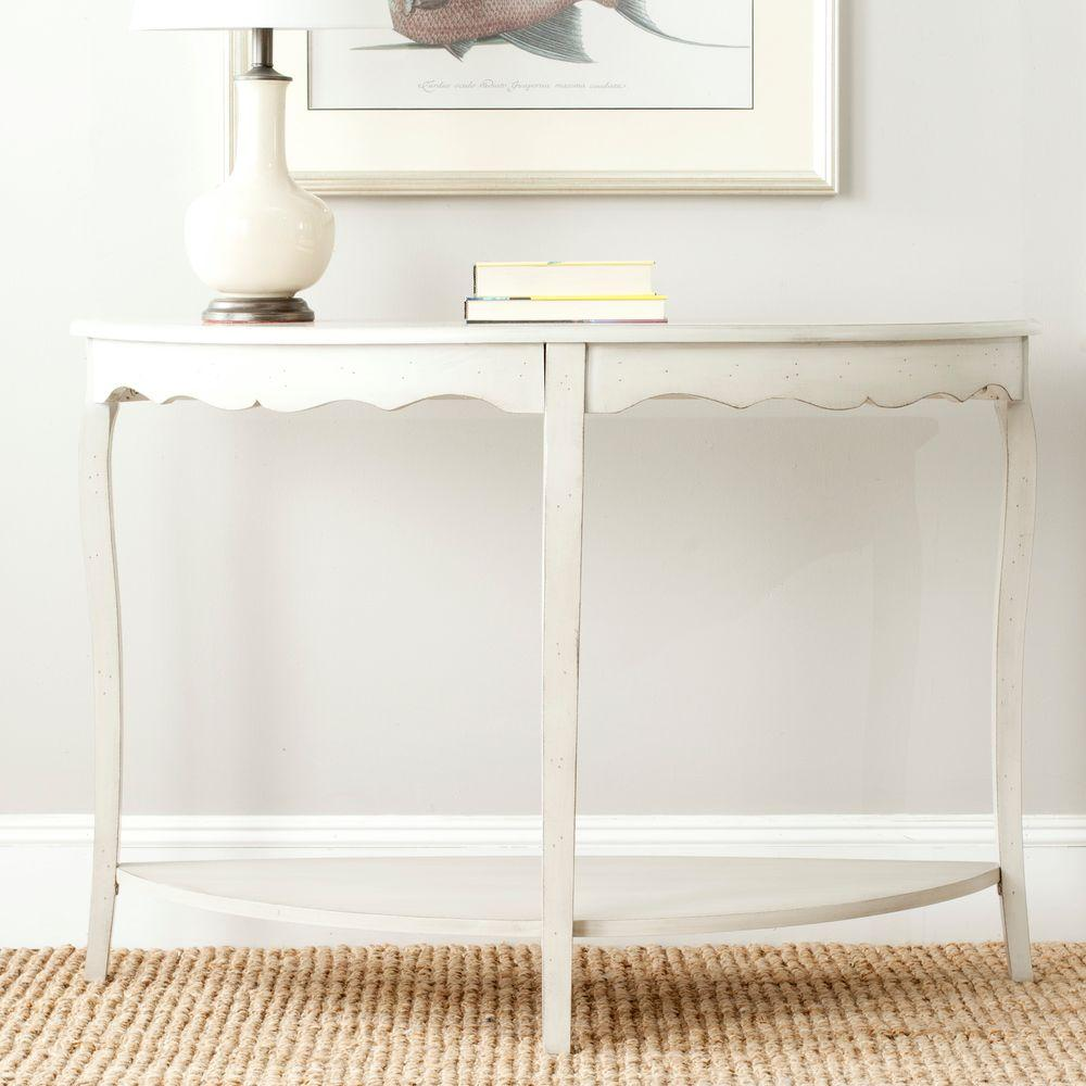 safavieh regan distressed cream console table white marble blue accent off contemporary dining room chairs furniture pune coffee sets ikea pretty storage boxes mirrored toronto