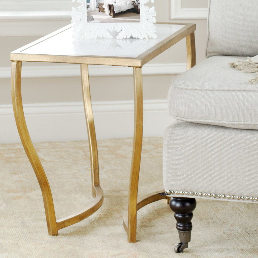 safavieh rex accent table space crafts white granite and tops gold console glass bedside behind couch round patio cover tennis bohemian coffee wood drum square legs narrow black