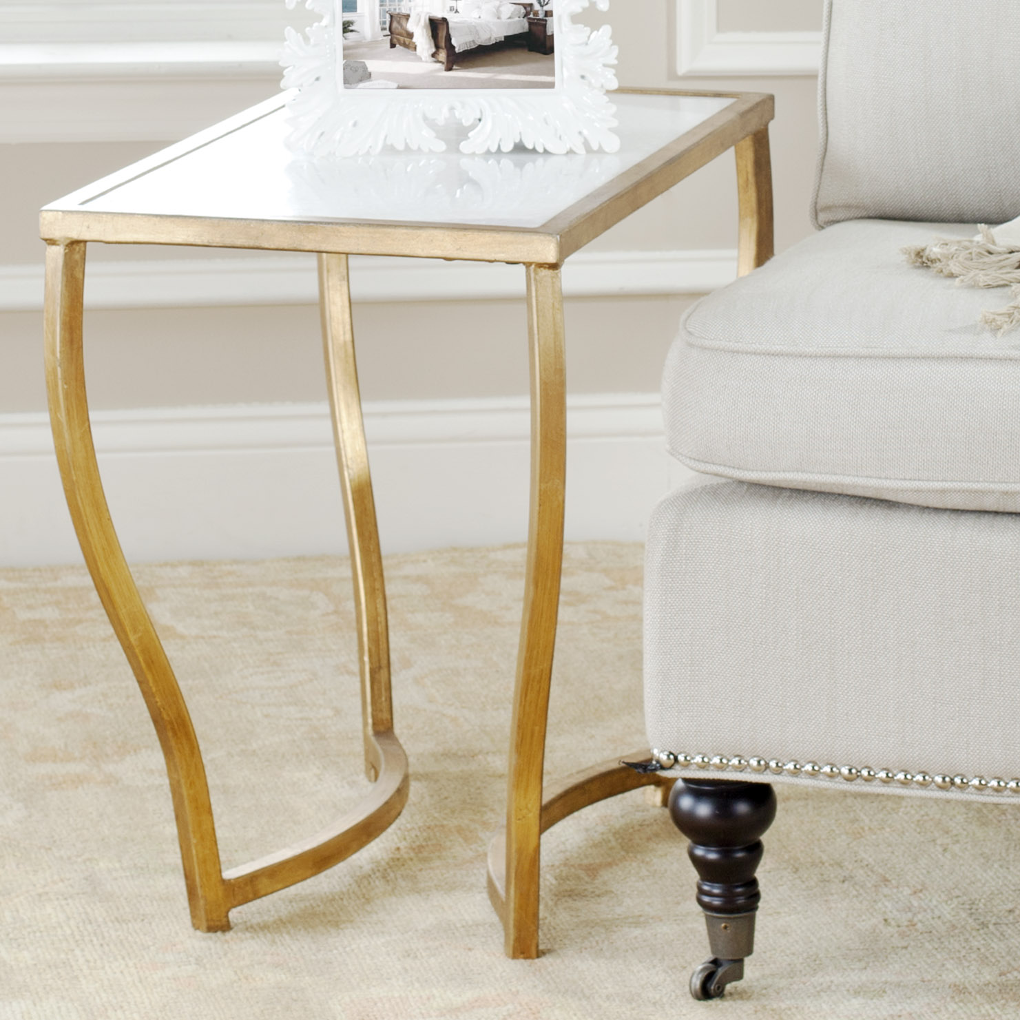 safavieh rex glass top gold foil accent table prod small contemporary end tables dresser target mirrored bedside lockers side design for drawing room entry gray pier one ashley
