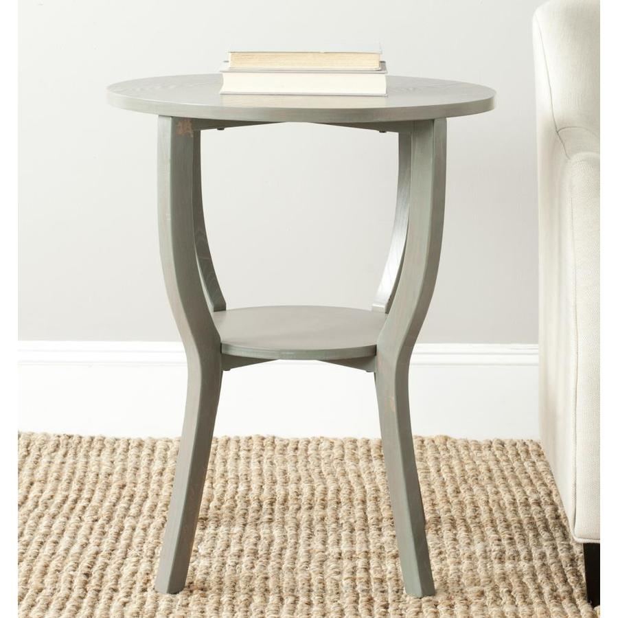 safavieh rhodes round pedestal accent table french gray next dining room chairs nautical themed lamps distressed wood coffee patio cushions unique tables and end modern dark
