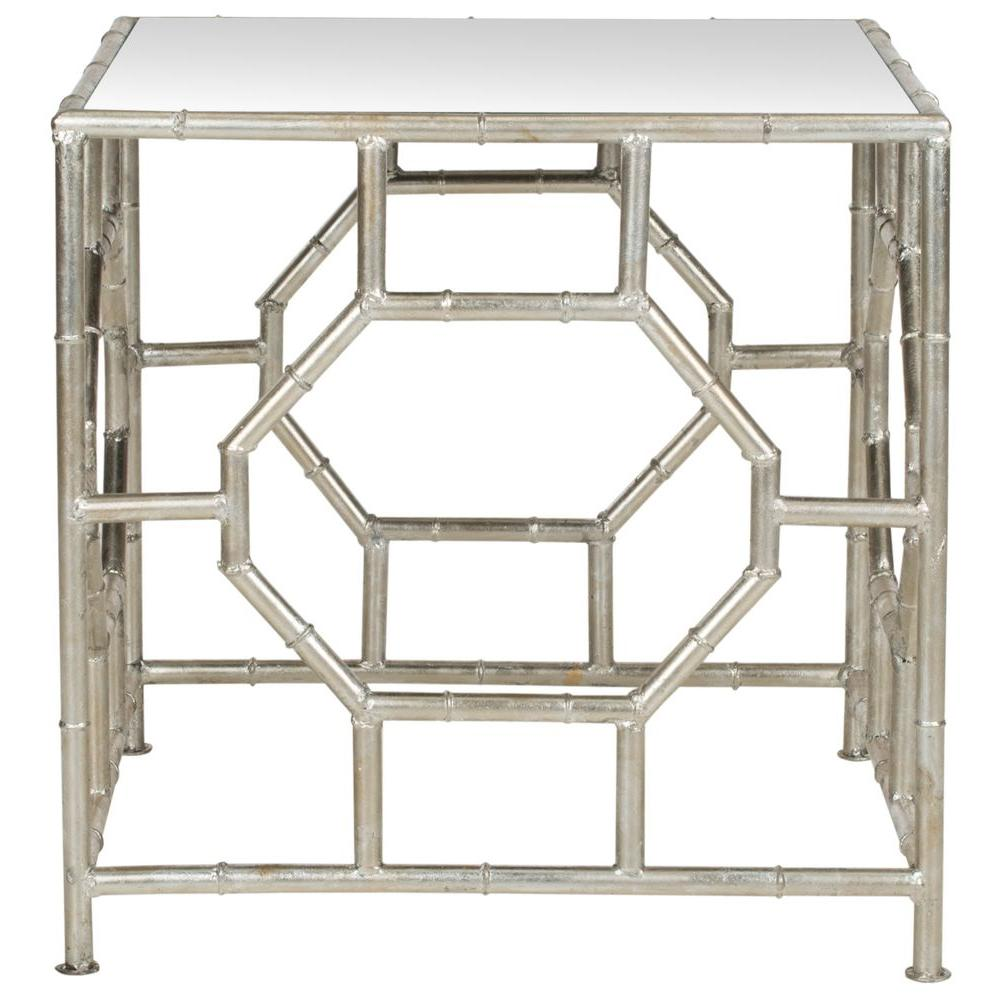 safavieh rory silver mirror top end table the tables metal accent woven outdoor furniture pub style kitchen cube storage unit ikea target tripod lamp dining chair set west elm mid