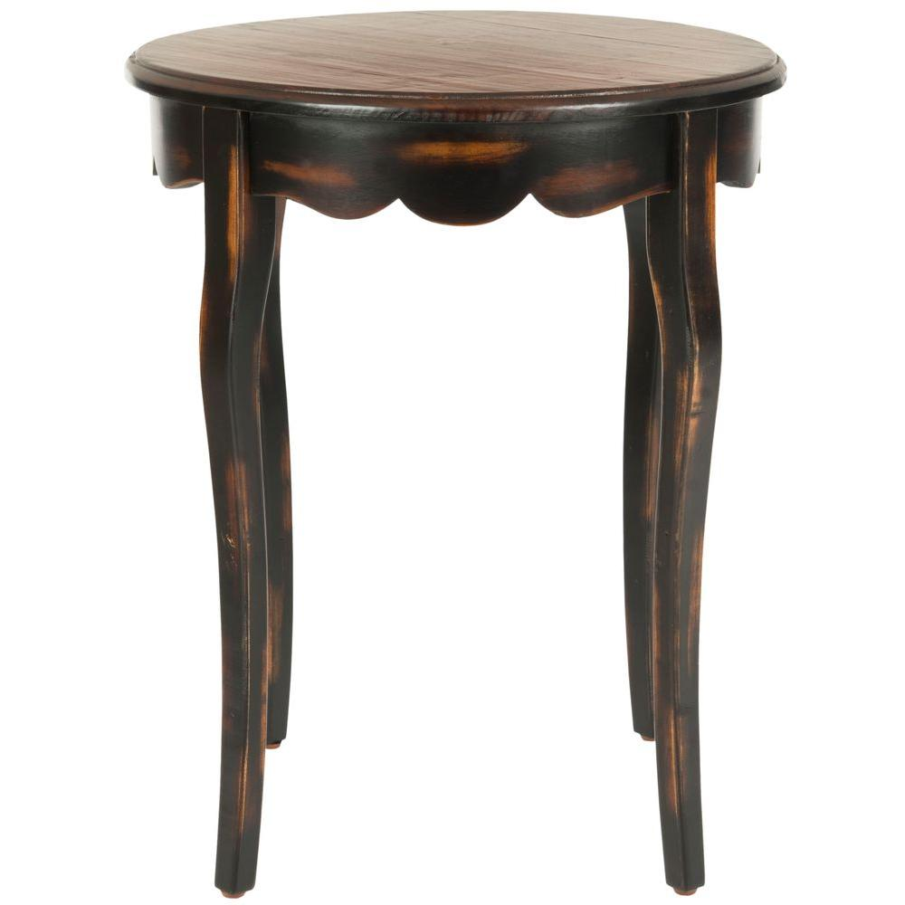safavieh sarah nutmeg and java side table distressed round accent square metal screw legs hardware meyda tiffany shades small solid wood coffee homesense dining chairs tile patio