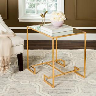 safavieh seamus antique gold leaf accent table prod small pine solid wood sofa side design for drawing room blue home accessories bunnings patio furniture glass chrome modern