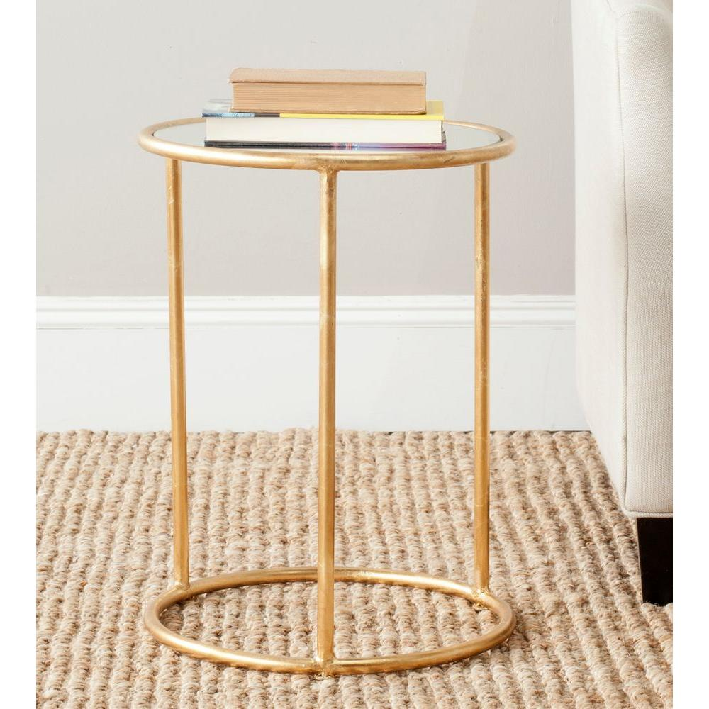 safavieh shay gold mirror top end table the outside ping outdoor drum accent mirrored side contemporary tables for living room skinny bedside astoria patio furniture armchair sets