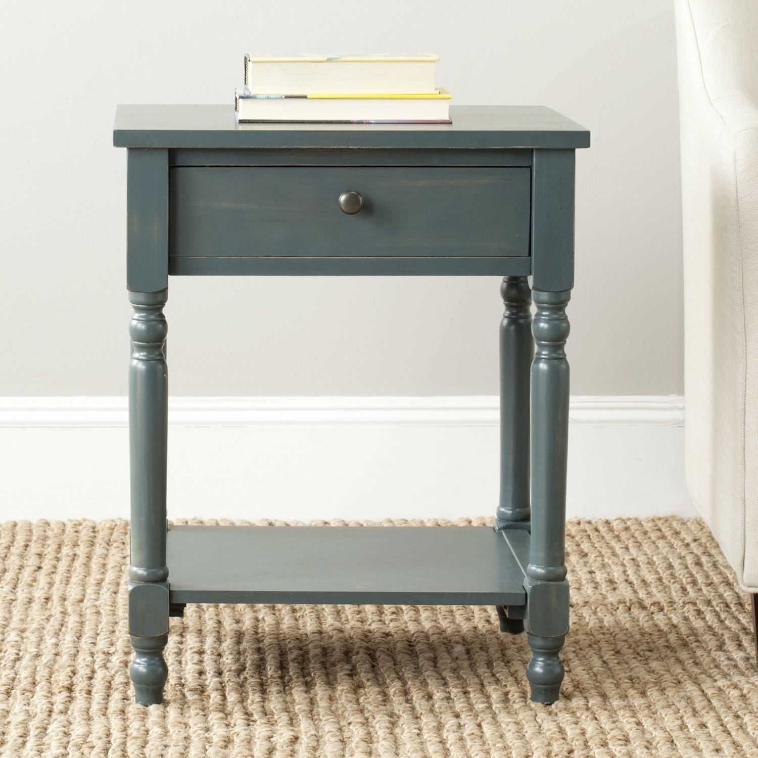safavieh tami dark teal accent table blue ott coffee chinoiserie lamp wall mounted console diy small end laminated cotton tablecloth unique tables and very thin pair nightstands
