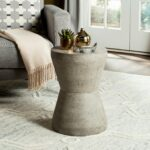 safavieh torre concrete indoor outdoor accent table dark grey brown free shipping today tiffany nightstand lamps full size mattress small laptop desk glass and brass furniture 150x150