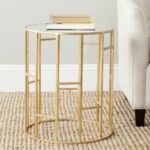 safavieh treasures doreen gold mirror top accent table mirrored condos ikea small kitchen and chairs verizon tablet silver trunk coffee ashley furniture glass dining linens 150x150