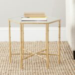 safavieh treasures kerri gold mirror top accent table res mirrored cushions contemporary dining chairs ikea small kitchen and pier one antique square coffee crackle glass lamp 150x150