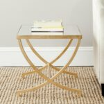 safavieh treasures maureen gold mirror top accent table mirrored free shipping today oak lamp outdoor cooking teal chalk paint espresso nesting tables sheesham wood end ikea 150x150