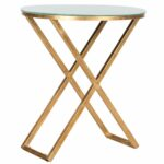 safavieh treasures riona gold white top accent table free shipping today cement base wide nightstand tall occasional center cover beach chairs bunnings drum throne threshold 150x150