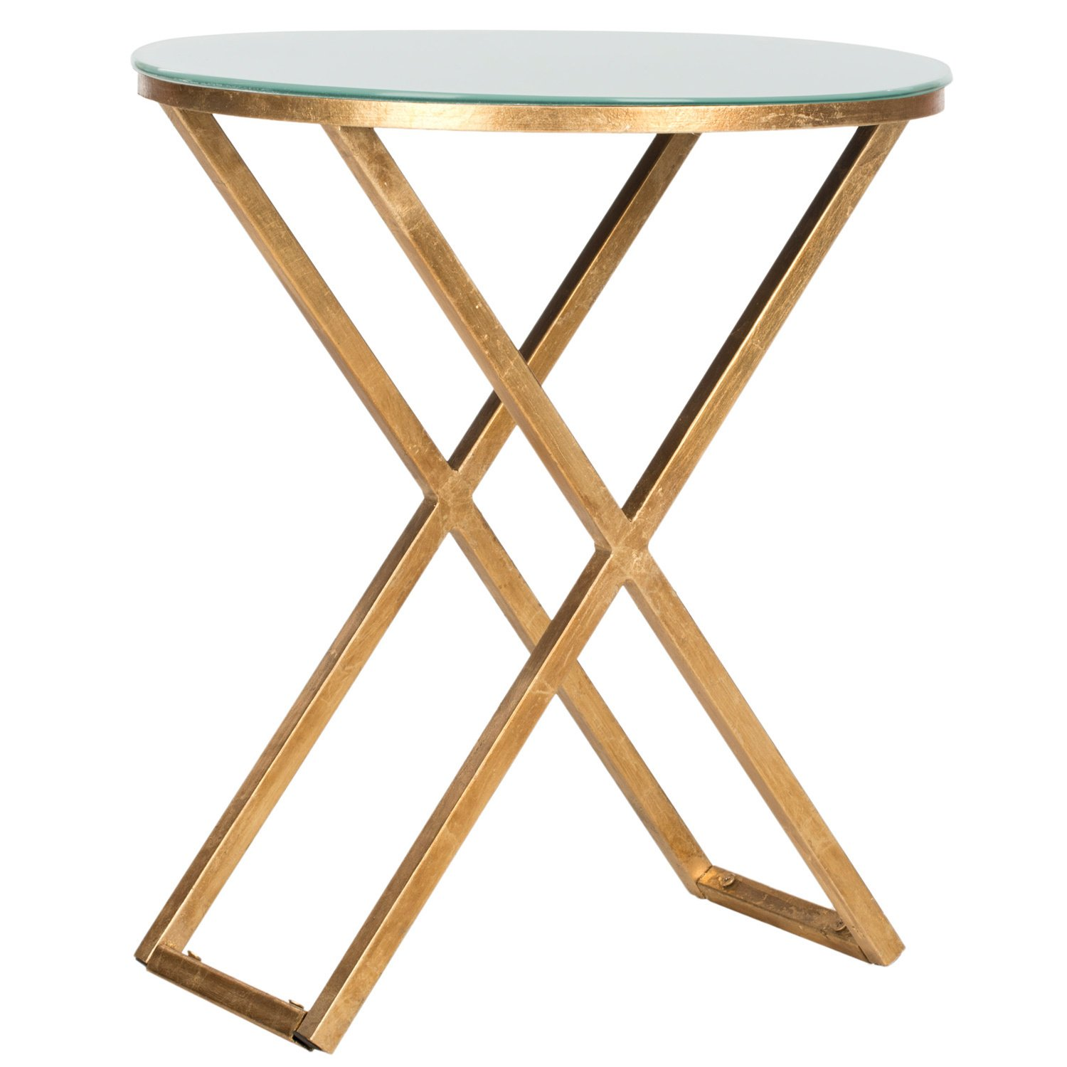safavieh treasures riona gold white top accent table free shipping today cement base wide nightstand tall occasional center cover beach chairs bunnings drum throne threshold