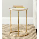 safavieh treasures shay gold glass top accent table free with shipping today small round silver side porch inch nightstand metal bedside replica chairs cabinets high dining pink 150x150