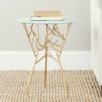 safavieh treasures tara gold blue white top accent table metal portable rabat round outdoor patio counter height pub credenza furniture french farmhouse modern chandeliers 150x150