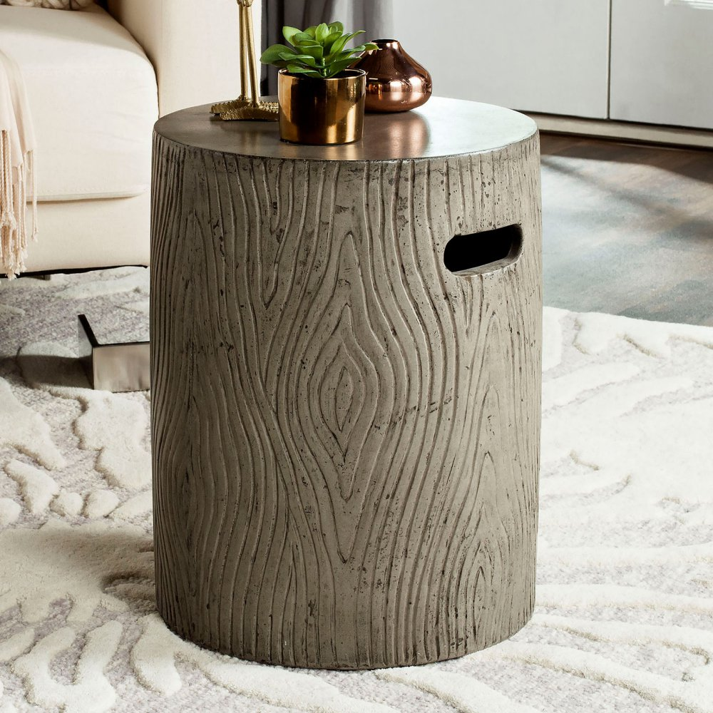 safavieh trunk concrete accent table dark grey options stone gray about this product ture metal and glass sofa pottery barn small kitchen owings target threshold bar long skinny