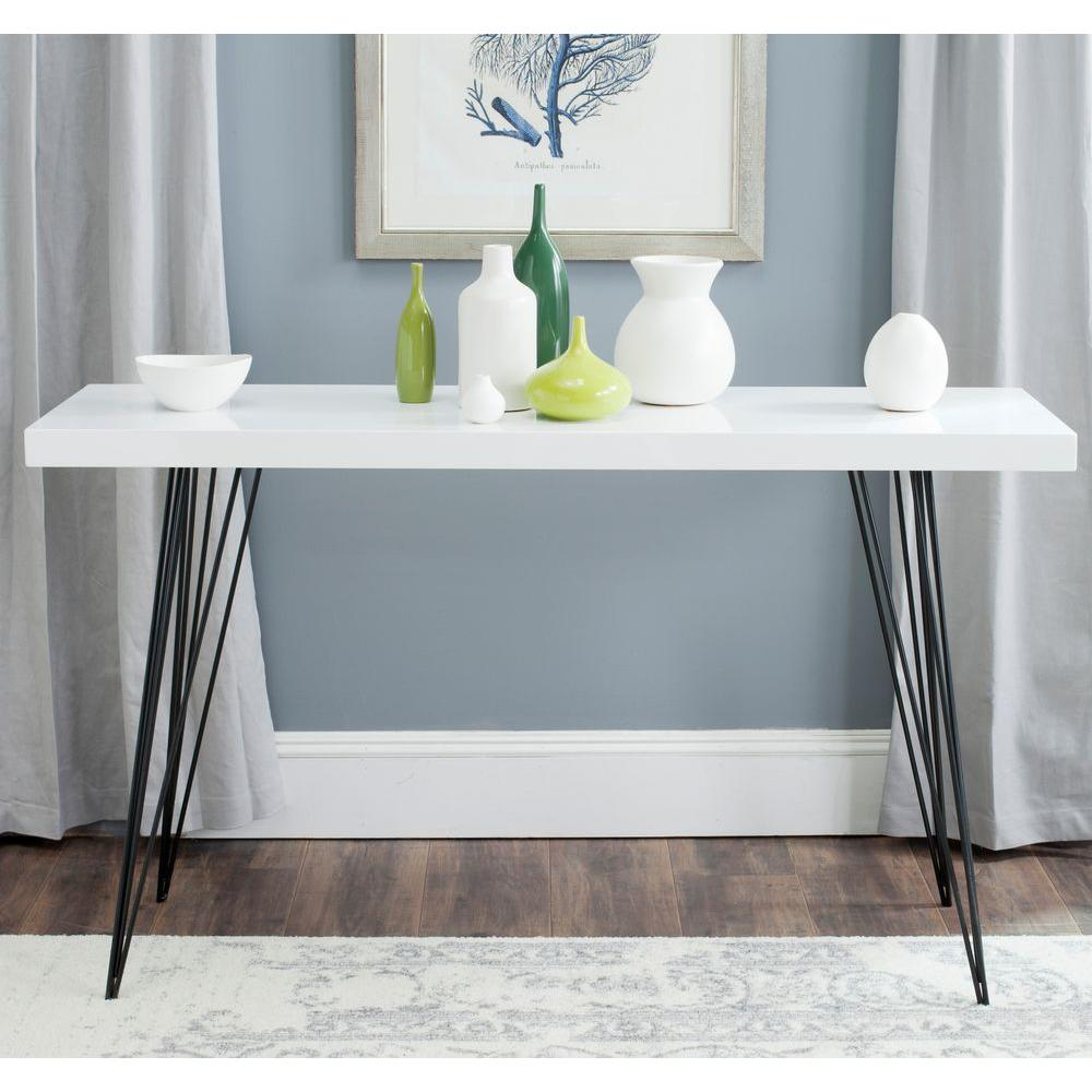 safavieh wolcott white and black console table the tables lacquer accent small outdoor patio set west elm entryway extra wide acrylic snack lamp glass cabinet knobs clear coffee