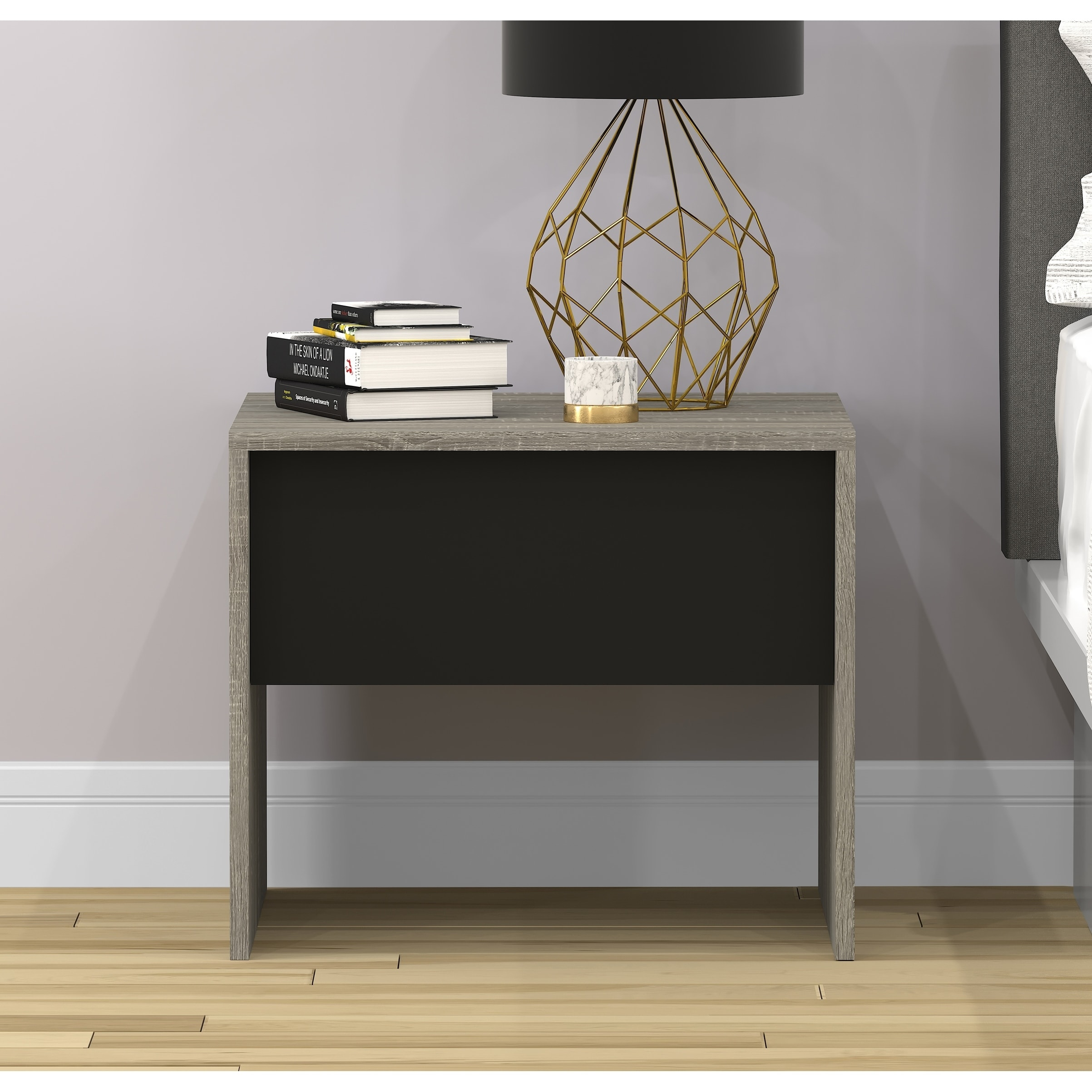 safdie grey wood accent table with black drawer free shipping today wicker storage trunk small space bedroom furniture gold home accessories metal and glass end tables triangle
