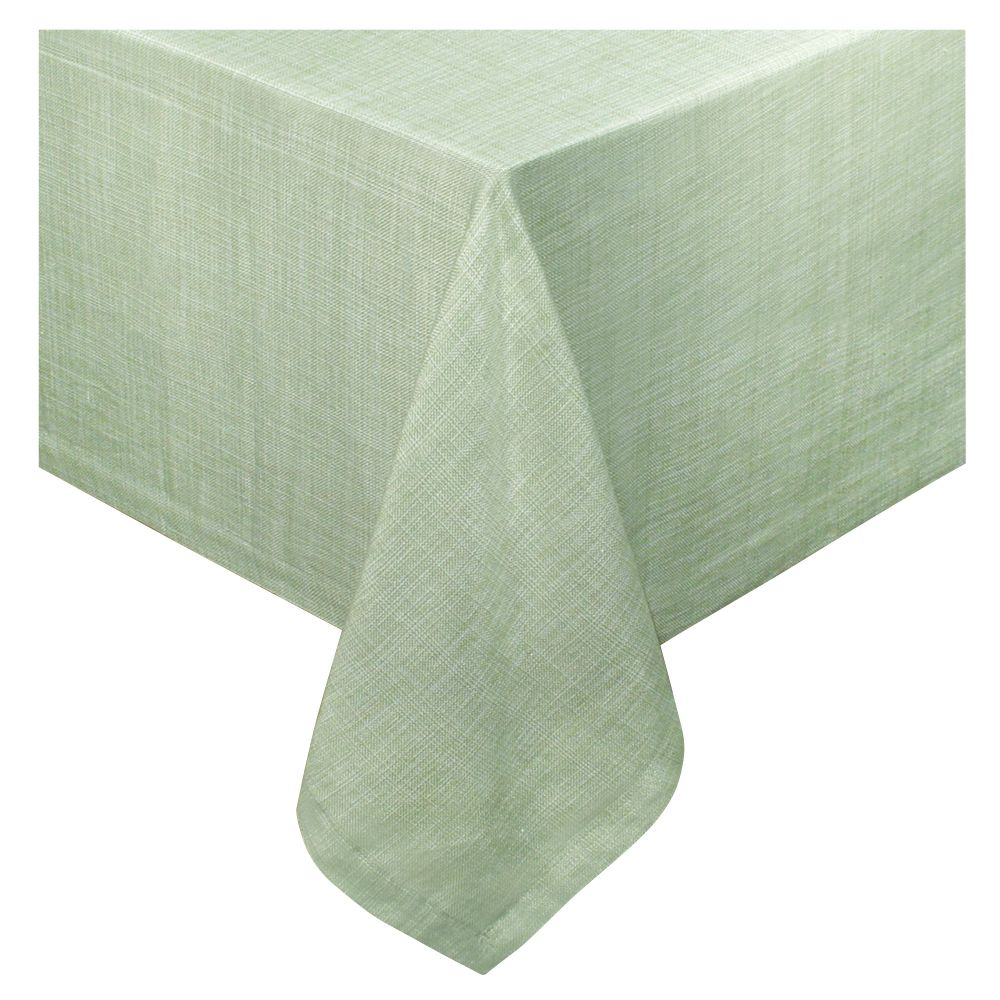 sage inch tablecloth products accent table covers this the perfect everyday which features linen look lintex fantastic selection colors makes easy for work outside porch furniture