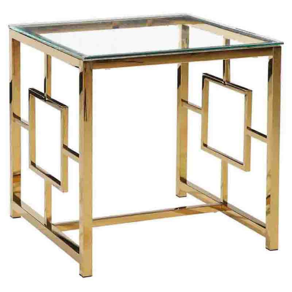 sagebrook home gold metal accent table master white marble square coffee dining base only brass side corner decor accessories extendable farmhouse chair and set small bedroom