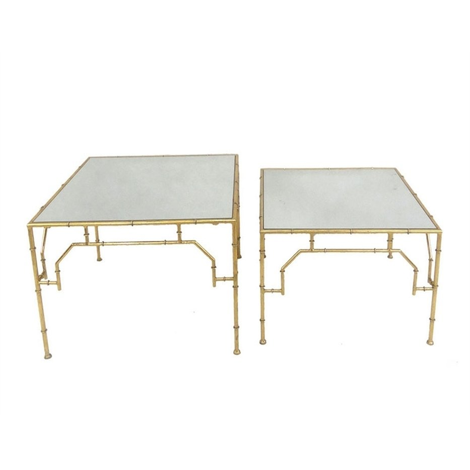 sagebrook home metal mirror accent tables gold inches set table free shipping today hobby lobby decorations wood drum round bedside with drawer ikea small storage french braid